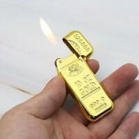 Adjustable Flame Gas Lighter Refillable Butane Cigarette Gold Style Lighters New