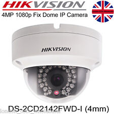 HIKVISION DS-2CD2142FWD-I 4MP 4MM IP Network POE ONVIF WDR  Dome Camera UK Stock