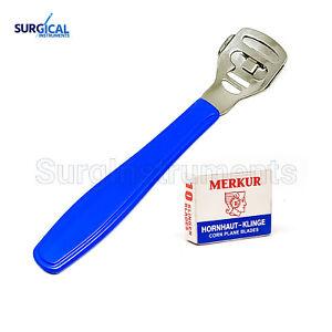 Callous Shavers Razors W/10 blades Foot Hard Rough Skin Corn Remover Tool