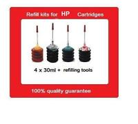 Refill kits for HP 62XL black & HP62XL colour Ink Cartridges HP officejet 5740