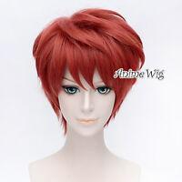 Fate/Stay Night Shirou Emiya Red Short 30CM Anime Heat Resistant Cosplay Wig