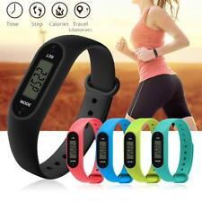 UK New Run Step Walk Watch Bracelet Pedometer Calorie Counter LCD Distance Watch