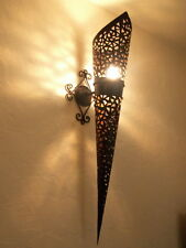 100 cm!! applique murale torche Marocaine fer forgé lampe lanterne decoration