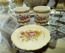 Nice two mini cups and one mini plate  Vintage Quality