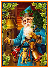 Victorian Father Christmas Santa Claus # 705 Counted Cross Stitch Pattern