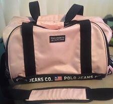 ed8914ff2008 Vintage Polo Ralph Lauren Pink Black Flag Duffle Bag