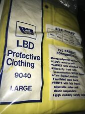 2 New LBD Protective Clothing PVC Rain suit Unisex Size Large (42-44)  Yellow