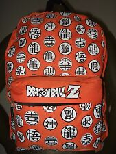 Orange Dragon Ball Z Kanji Goku Japanese Anime Cartoon School Backpack Book Bag