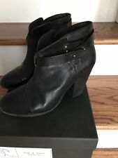 RAG & BONE ankle harrow leather BOOTS 39.5/9.5 black. Run Small. I Wear 8.5 US.