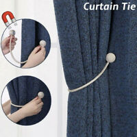 Ball Magnetic Curtain Tiebacks Hooks Rope Holdbacks Tie Backs Holder Home Decor