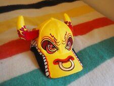Youth El Toro Loco Monster Jam Truck Bull Novelty Hat Adjustable Red Yellow Horn