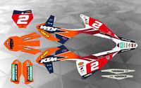 KTM FMF TEAM DECAL GRAPHICS STICKER KIT SX/SXF 2016-2018