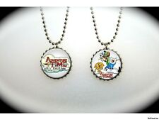 Adventure Time Backpack Fin and Jake -  2 sided necklace