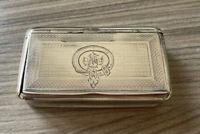 Antique Continental Silver Snuff Box