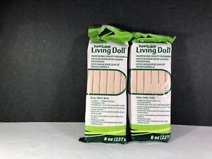 Super Sculpey Living Doll Sculpting clay Baby (2) 8 oz NIP crafts hobby