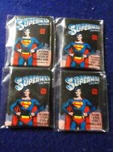 1979  SUPERMAN THE MOVIE 4 UNOPENED PACK LOT