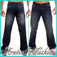 BLUE JEANS MEN PANTS straight fit trousers MENS PLAIN DENIM regular size 29 30 S