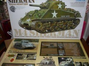 TAMIYA 1/16 rc M4 SHERMAN tank kit supplied with Clark TK24 MFU 50614