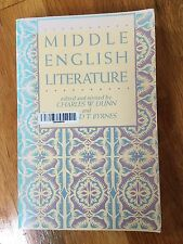 Middle English Literature Charles Dunn and Edward Byrnes
