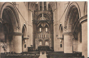 Hampshire Postcard - Winchester - St Cross - Nave East - Ref TZ6030