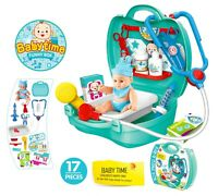 Kids Doctor Set Medical Playset Nurse Medic Pretend Role Play Toy Set Baby Doll