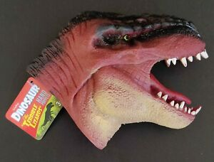 Dinosaur T-Rex Hand Puppet soft rubber by Schylling 🦖 great 4 imagination play