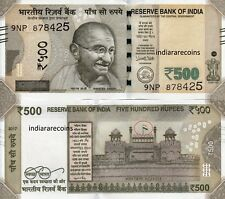 India 500 Rs Error Flag Wheel Missing 2017 L Inset Paper Money Bank Note Unc