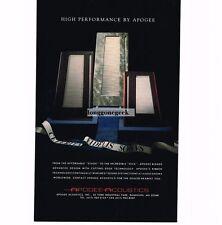 1990 Apogee Acoustics Stage & Diva Speakers Hi-Fi Stereo Vtg Print Ad
