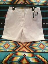 New Ralph Lauren Polo Women's Casual Shorts  Size 12  Color White