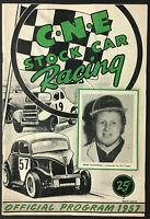 1957 CNE Stock Car Racing Program Canadian National Exhibition Doug Callaghan