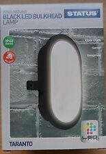5.5 W Negro Led Mamparo Lámpara de pared Montaje De 180 Mm X 120mm 220-240v 50hz Barato!
