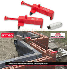 ARMEG 2 Pack Brick Runner String Line Clamp Blocks & Brickies 10m Line, ABLR001