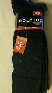 GOLD TOE MEN SOCKS 3 PACK BRAND NEW MULTI COLOR NAVY