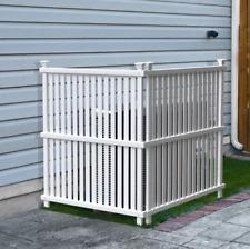 4′ x 3′ Vinyl 2 Privacy Screen Fence Panel Outdoor Fencing Garden Yard White