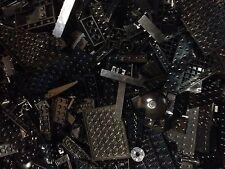 100 BLACK Random Lego Bricks / Parts / Pieces / Custom Build W-Clean Black LEGO