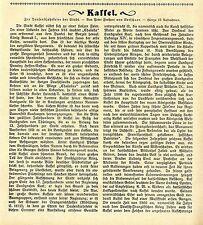 Peter Frhr.v. Verschuer Zur 1000.Jahrfeier der Stadt Kassel mit 15 Bildern 1913