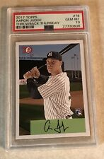 2017 TOPPS TBT SET 13 #78 AARON JUDGE PSA GRADED 10 GEM MINT 1954 BOWMAN DESIGN