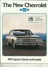 CHEVROLET CAPRICE CLASSIC AND IMPALA MODELS LATE 1978 FOR 1979 CAR BROCHURE