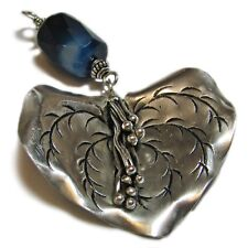 SoniaMcD's Upcycled Jewelry--Large Sterling Silver Agate Pendant