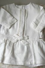 CHLOE BABY IVORY BOW DRESS 6 MONTHS