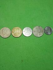 LOT OF 5 ISRAEL old 100 shekel shekalim 80s coin coins middle east judaism