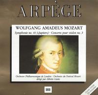 CD MOZART SYMPHONIE N° 41 JUPITER CONCERTO POUR VIOLON N° 3  3109
