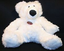 "DanDee FAT FLUFFY White Teddy Bear Collector's Choice  20"" Doll Plush Stuffed"