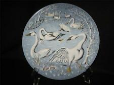 "Haviland Limoges 12 Days Of Christmas ""Seven Swans A Swimming"" Collector Plate"