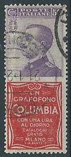 1924-25 REGNO USATO PUBBLICITARIO COLUMBIA 50 CENT - RR13917-2