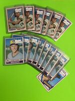 🔥1978-80🔥HOF MILWAUKEE BREWERS ROBIN YOUNT VINTAGE Topps Baseball Card LOT X15