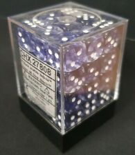 More details for chessex dice: nebula black / white 12mm d6 dice block (36 dice)