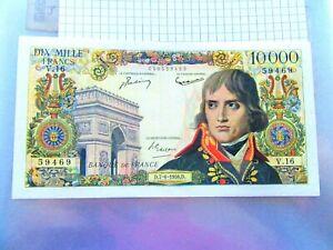 10.000 FRANCS NAPOLEON BONAPARTE  D 07/06 /1956 D  V. 16 1 PLI + TROUS D'EPINGLE