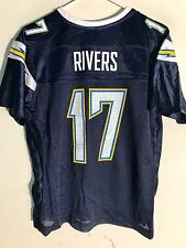 Reebok Women's NFL Jersey San Diego Chargers Philip Rivers Navy sz L