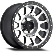 "17"" Method Race Wheels style NV Machine / Black finish 6 lug 6x139.7 Et 0"